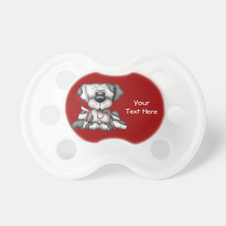 Dog With Leash (Customizable) Pacifier
