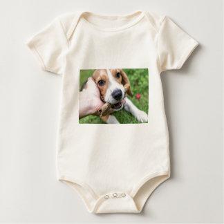Dog with Stick Baby Bodysuit