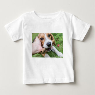Dog with Stick Baby T-Shirt