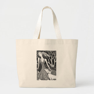 dog, woman, love, friendship , caring, affection , large tote bag
