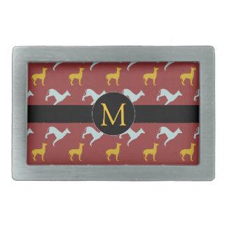 Dog Year 2018 Zodiac Birthday Monogram Belt Buckle