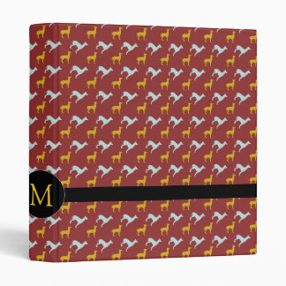 Dog Year 2018 Zodiac Birthday Monogram Binder