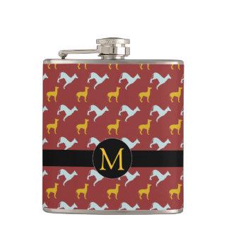 Dog Year 2018 Zodiac Birthday Monogram Flask