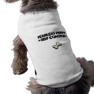 dogbone, Fearless Puppy-Self Control- Dog Shirt
