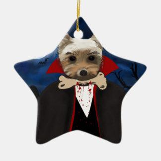 Dogcula Ceramic Star Ornament