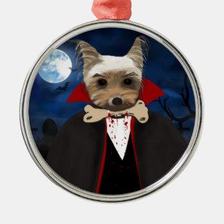 Dogcula Silver-Colored Round Ornament