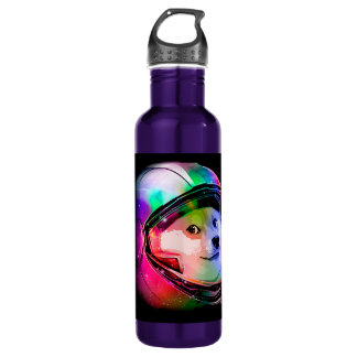 Doge astronaut-colorful dog - doge-shibe-doge dog 710 ml water bottle