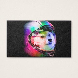 Doge astronaut-colorful dog - doge-shibe-doge dog business card