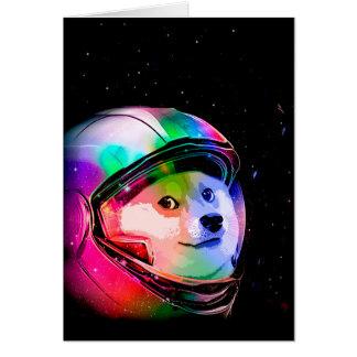 Doge astronaut-colorful dog - doge-shibe-doge dog card