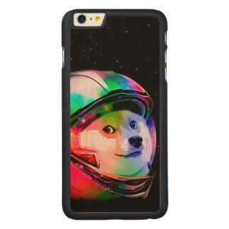 Doge astronaut-colorful dog - doge-shibe-doge dog carved maple iPhone 6 plus case