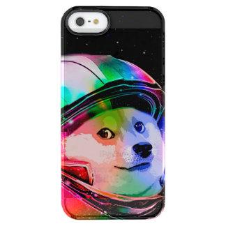 Doge astronaut-colorful dog - doge-shibe-doge dog clear iPhone SE/5/5s case