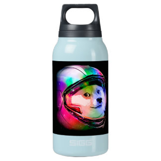 Doge astronaut-colorful dog - doge-shibe-doge dog insulated water bottle
