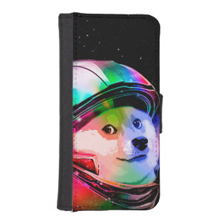 Doge astronaut-colorful dog - doge-shibe-doge dog iPhone SE/5/5s wallet case
