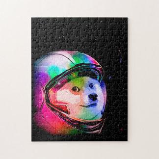 Doge astronaut-colorful dog - doge-shibe-doge dog jigsaw puzzle