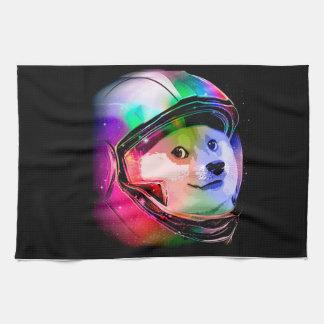Doge astronaut-colorful dog - doge-shibe-doge dog kitchen towel