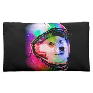 Doge astronaut-colorful dog - doge-shibe-doge dog makeup bag