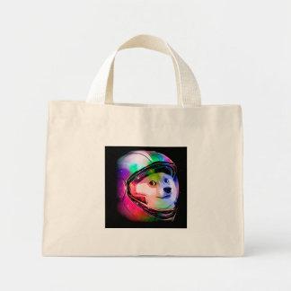 Doge astronaut-colorful dog - doge-shibe-doge dog mini tote bag