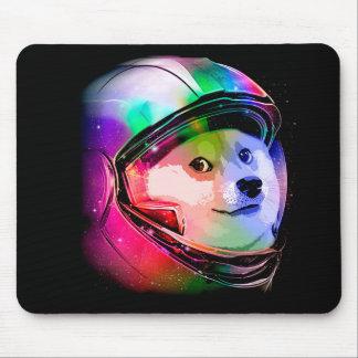 Doge astronaut-colorful dog - doge-shibe-doge dog mouse pad