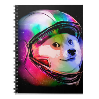 Doge astronaut-colorful dog - doge-shibe-doge dog notebook