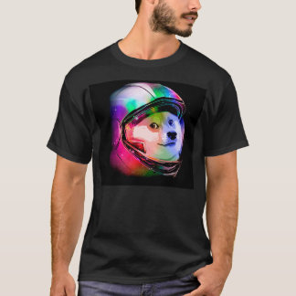 Doge astronaut-colorful dog - doge-shibe-doge dog T-Shirt