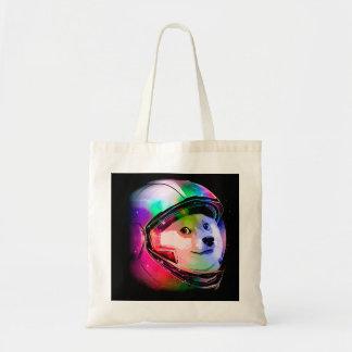 Doge astronaut-colorful dog - doge-shibe-doge dog tote bag