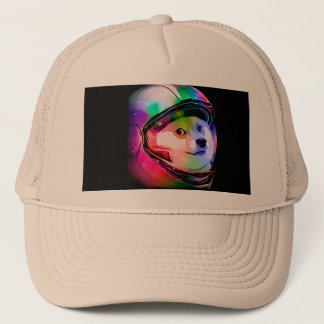 Doge astronaut-colorful dog - doge-shibe-doge dog trucker hat