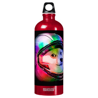 Doge astronaut-colorful dog - doge-shibe-doge dog water bottle