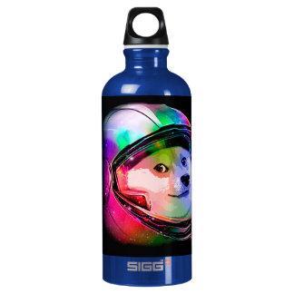 Doge astronaut-colorful dog - doge-shibe-doge dog water bottle