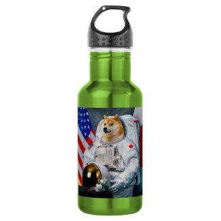 Doge astronaut-doge-shibe-doge dog-cute doge 532 ml water bottle