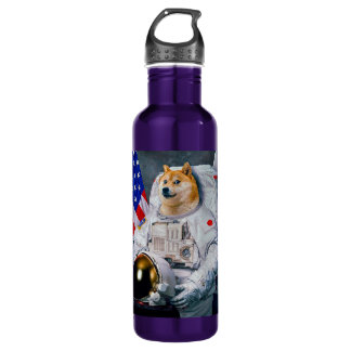 Doge astronaut-doge-shibe-doge dog-cute doge 710 ml water bottle