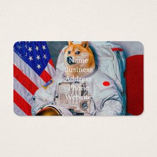 Doge astronaut-doge-shibe-doge dog-cute doge business card