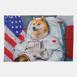 Doge astronaut-doge-shibe-doge dog-cute doge kitchen towel