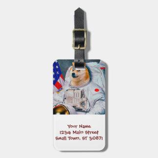 Doge astronaut-doge-shibe-doge dog-cute doge luggage tag