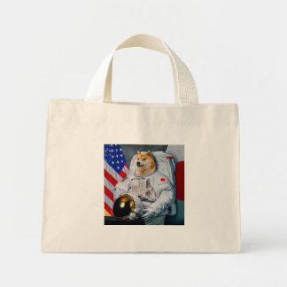 Doge astronaut-doge-shibe-doge dog-cute doge mini tote bag