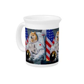 Doge astronaut-doge-shibe-doge dog-cute doge pitcher