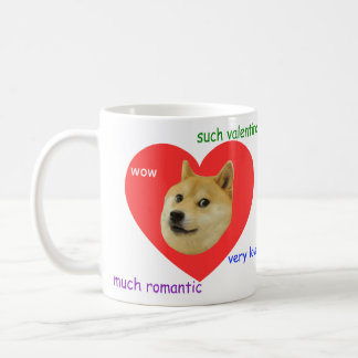Doge beaucoup de Valentines de jour d'amour très t Mug Blanc