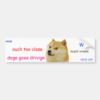 Doge Bumper Sticker