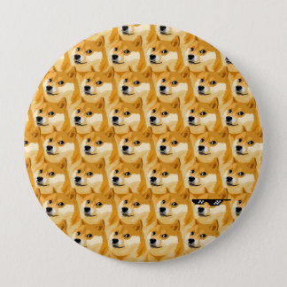 Doge cartoon - doge texture - shibe - doge 4 inch round button