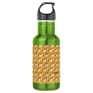 Doge cartoon - doge texture - shibe - doge 532 ml water bottle