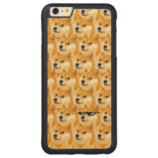 Doge cartoon - doge texture - shibe - doge carved maple iPhone 6 plus bumper case