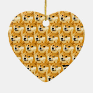 Doge cartoon - doge texture - shibe - doge ceramic ornament