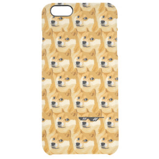Doge cartoon - doge texture - shibe - doge clear iPhone 6 plus case