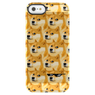 Doge cartoon - doge texture - shibe - doge clear iPhone SE/5/5s case