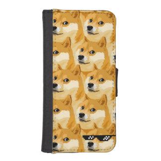 Doge cartoon - doge texture - shibe - doge iPhone SE/5/5s wallet case