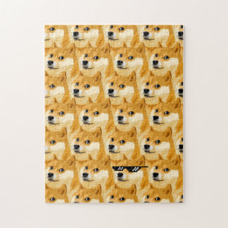 Doge cartoon - doge texture - shibe - doge jigsaw puzzle
