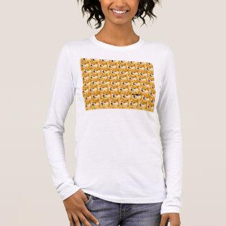 Doge cartoon - doge texture - shibe - doge long sleeve T-Shirt