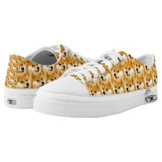 Doge cartoon - doge texture - shibe - doge Low-Top sneakers