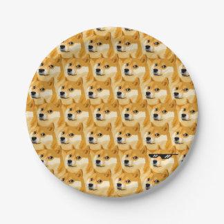 Doge cartoon - doge texture - shibe - doge paper plate