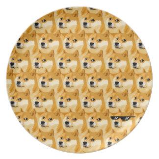 Doge cartoon - doge texture - shibe - doge plate