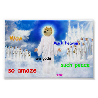 doge heaven poster